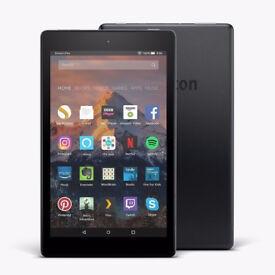 8 Hd Fire Tablet New Amazon Alexa HD Display 16GB Special Black 2017 1.5 Ram