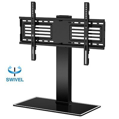 Fitueyes TV Stand with Swivel Mount Pedestal Base for 32-65