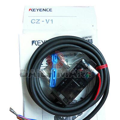 Keyence Cz-v1 Rgb Digital Fiber Optic Sensors Switch Colour Amplifier Plc New