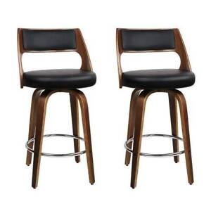 Set of 2 Wooden Bar Stools CW23Y-BA-TW-8569-H76-BKX2-AB