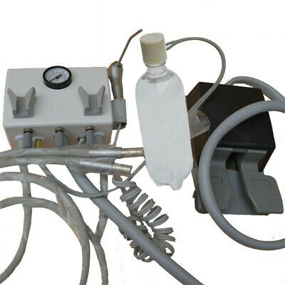 Portable Dental Turbine Unit Wall Mount Type Air Compressor Triplex Syringe 24h