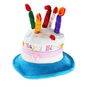 Premium OEM Adult Deluxe Happy Birthday Cake Hat With Candles