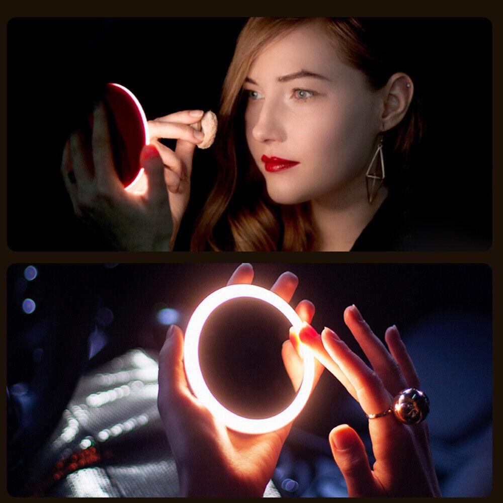 Portable LED Makeup Mini Lighted Makeup Hand Small Round Poc