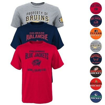 NHL Reebok CCM  Licensed Team Graphic T-Shirt Collection Boys Youth (XS-2XL) - Nhl Youth T-shirts