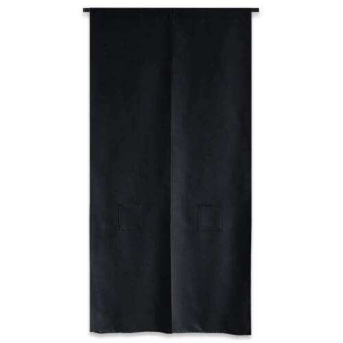 JAPANESE Noren Curtain Black Kuro Long Shading Size 85 x 150cm