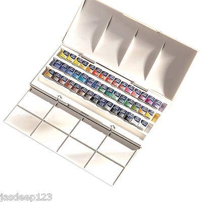 Winsor and Newton Cotman 45 Half Pans Studio Watercolour Set Artist Quality Art ()