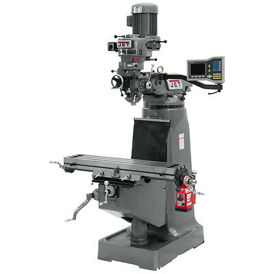 Jet Jtm-1 Stephead Milling Machine Wdro Power Feed 692188 Free Shipping