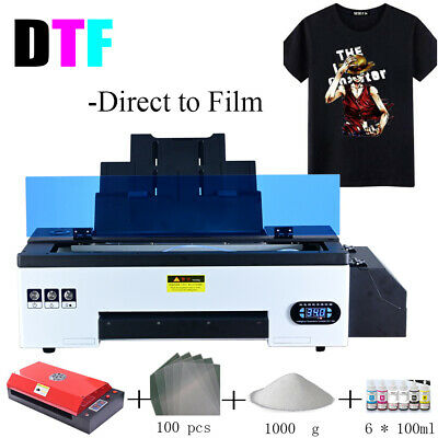 Dtf Flatbed Printer Tshirt Personal Diy Printer For Home Business W Oven Heater