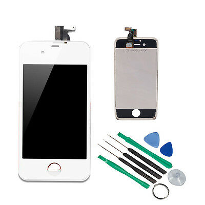 Replacement Assembly LCD Touch Screen Digitizer -White Glass OEM for iPhone 4S on Rummage