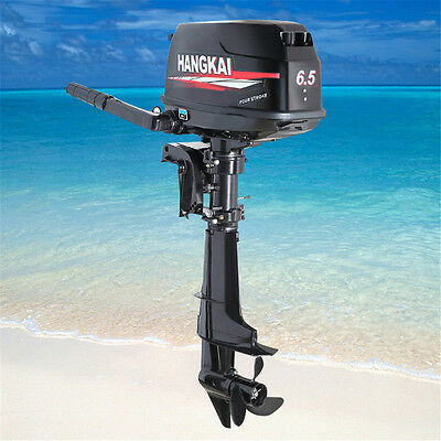 SALE 4-Stroke 6.5HP Outboard Boat Motor Fishing Boat Engine Water Cooling System