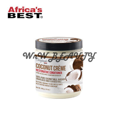 Originals Africa's Best Coconut Creme Restorative Conditioner for Dry Hair 15 (Best Hair Conditioner For Dry Damaged Hair)