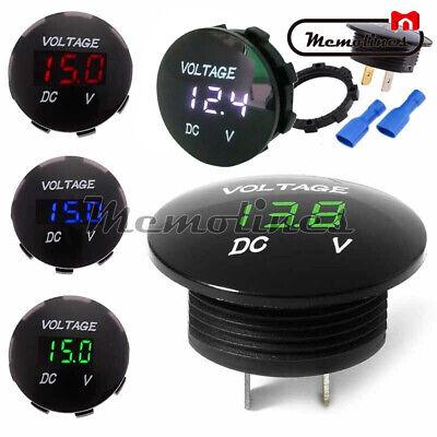Dc 12v-24v Led Panel Digital Voltage Volt Meter Voltmeter Greenredwhiteblue