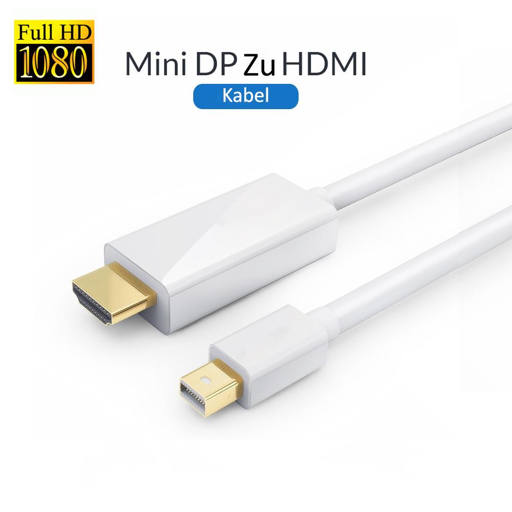 2 Meter Mini DisplayPort DP zu HDMI Adapter Kabel für Apple Macbook Pro Air