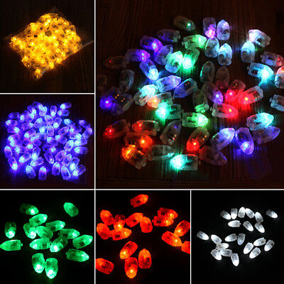 5/10X Colorful LED Balloon Light Glow Flash Ball Lamps Mini Lamp Party Supplies