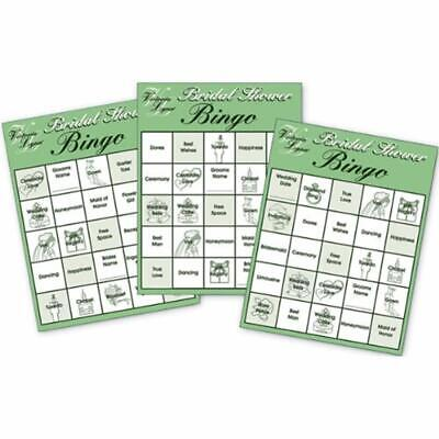 Bridal Shower Party Bingo Cards - 24 Game Fun For The Sports