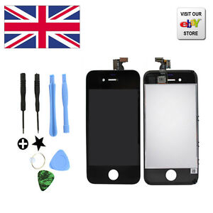 New Replacement Touch Screen LCD Digitizer Assembly For Black iPhone 4+Tools Kit