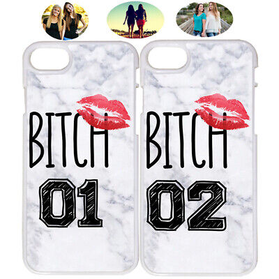 Lips Bitch 01 & 02 Marble Best Friend Phone Case Cover For iPhone X XR 6 7 8