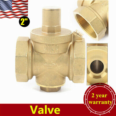 Dn50 2 Brass Adjustable Water Pressure Reducing Regulator Valve Food Industry
