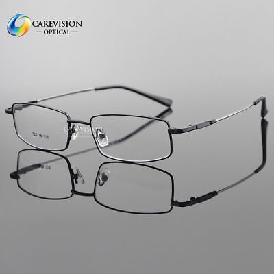 (Men's Titanium Alloy Full Rim Flexible  Eyeglass Frame Optical Eyewear RX Able )