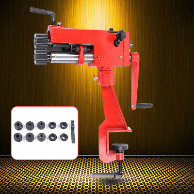 7 Inch Throat Bead Roller Sheet Metal Forming Steel Bender Tool With 6 Dies Usa