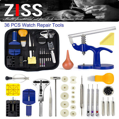 Professional Watch Repair Kit Watchmaker Back Case Opener Link Pin Spring Bar