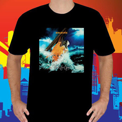 New Erasure World Be Gone Pop Rock Duo Mens Black T Shirt Size S To 3Xl