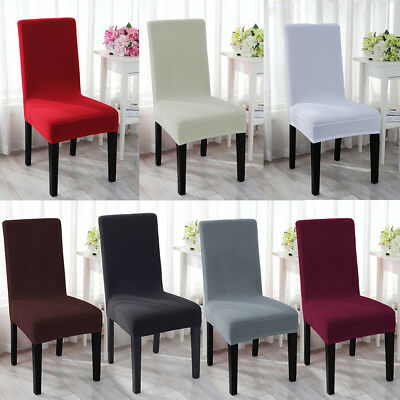 Stretch Spandex Dining Room Chair Cover Removable Seat Slipcover Furniture (Dining Room Seating)