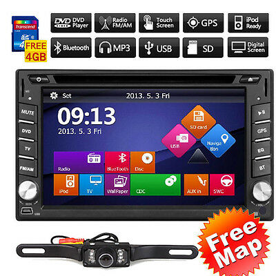 "6.2"" GPS Navigation HD Double 2 DIN Car Stereo DVD Player Bluetooth iPod MP3 TV~"