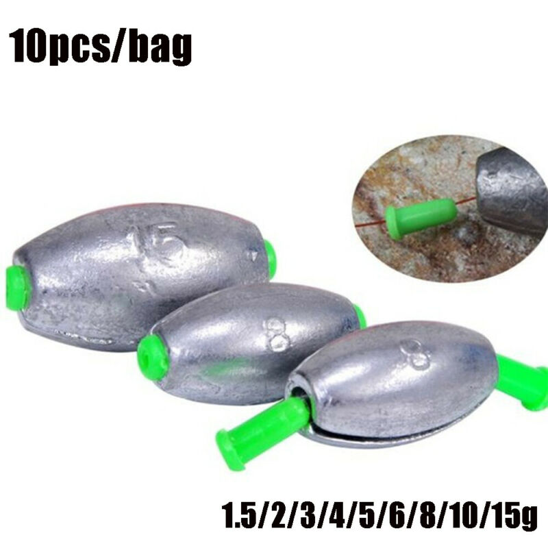 opening Mouth Weights Hook Connector Fishing Lead fall Olive Shaped  Sinker