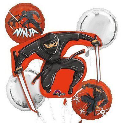 Anagram Black Ninja Birthday Party Favor 5CT Foil Balloon - Balloon Ninja