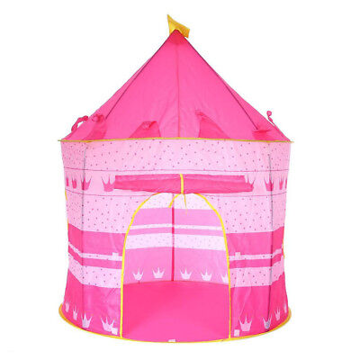 Princess Castle Play House Large Indoor Outdoor Kids Crown Tent For Girls Pink
