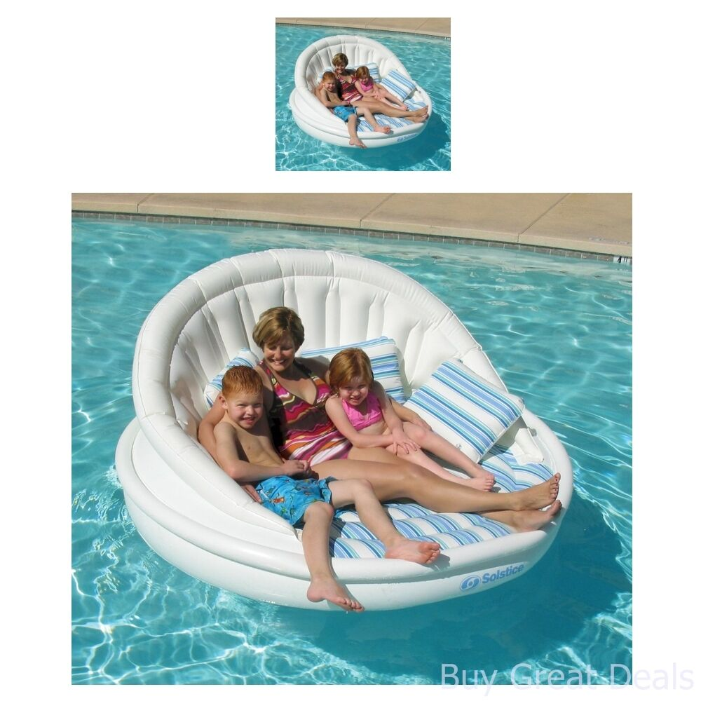 oversized swimming pool lounger float chair inflatable big aqua sofa water raft ebay