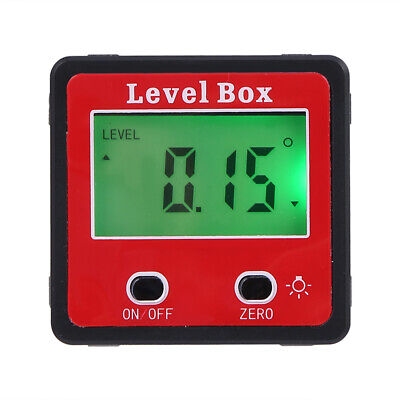 Magnetic Digital Protractor Angle Finder Bevel Level Box Inclinometer Meter M7g4