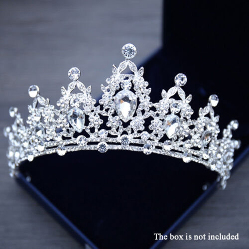 Queen Tiara Crown Wedding Bridal Party Prom Pageant-Silver