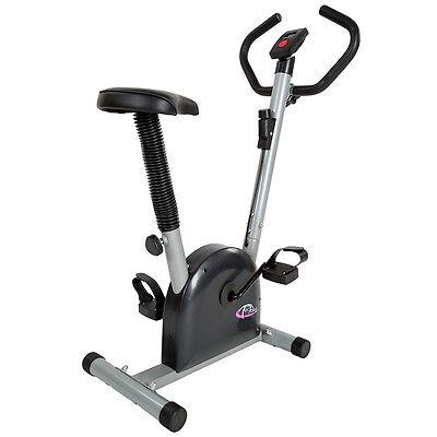 Fitness Fahrrad Hometrainer Heimtrainer Cardio Ergometer Bike Trimmrad silbermit Trainingscomputer für Ihr optimales Workout!