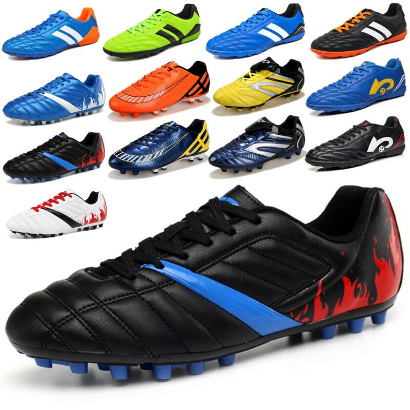 Men's Youth Soccer Shoes Cleats Football Trainers Outdoor Sp
