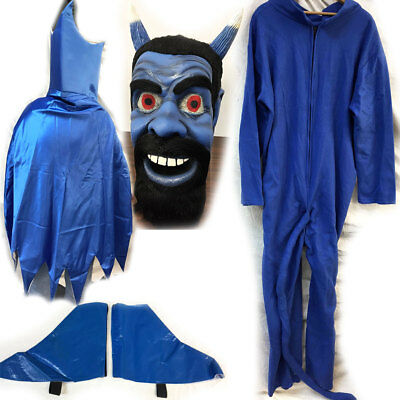 BLUE DEVIL Latex Mask & Costume One Size Complete, Halloween, by Mask Illusions - Blue Devil Costume