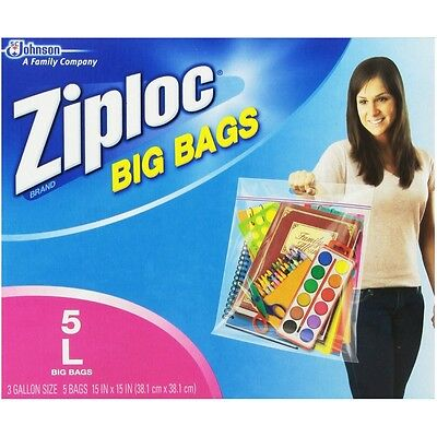 Ziploc Big Bag Double Zipper 5 Ea