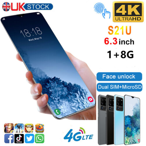"""Android Phone - 6.3"""" Large Screen Smartphone Android 6.0 Quad Core 2SIM Unlocked Mobile Phone YY"""