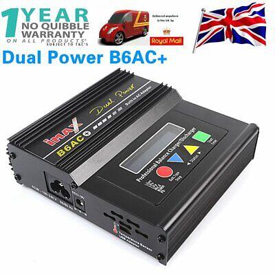 Imax B6 AC+ DC Digital LCD Screen RC Nimh Lipo Battery Dual Balance Charger Uk