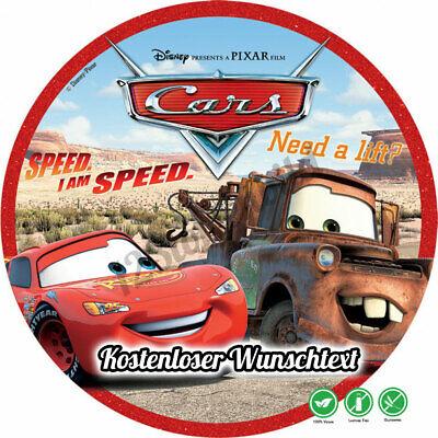 Tortenaufleger Geburtstag Tortenbild Zuckerbild Disney Cars 3 -09 ()