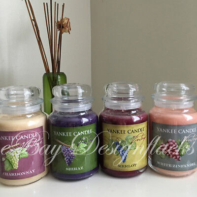 YANKEE CANDLE - Vintage Wine Collection - Large Jars *Free Expedited Shipping*
