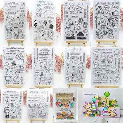 Metal Rubber Cut Dies Clear Stamp Paper Card Embossing Stencils Scrapbooking - Clear Stamps