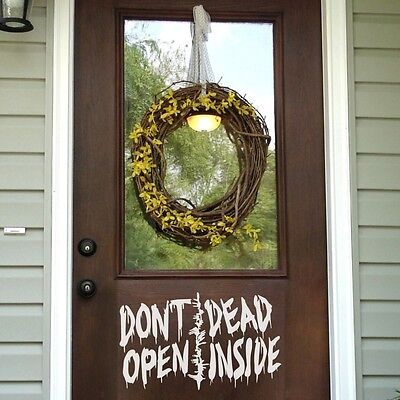 Halloween Open Door (Halloween Wall Decal Door Don't Open Dead Inside Walking Dead Saying Vinyl)