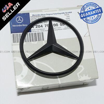 Genuine Matte Black Benz Logo Trunk Rear Emblem W204 Badges Modified Decoration