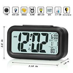 Digital Alarm Clock Display Travel Alarm Clock with Calendar Battery Opera Hot