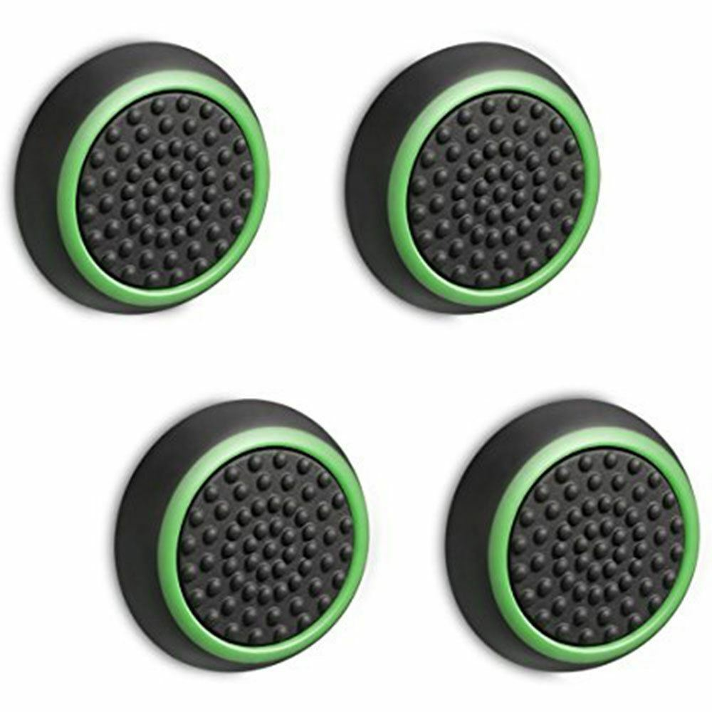 4X SILICONE THUMB STICK GRIP COVER CAP 4 SONY PS4 PRO PS3 XBOX ONE S 360
