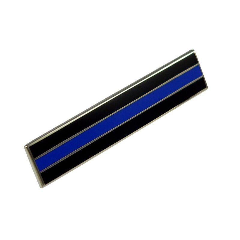 Thin Blue Line Police Citation Bar Mourning Merit Award Commendation Lapel Pin