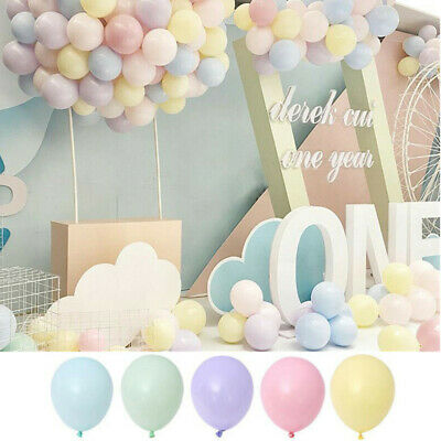 100pcs 5 inch Candy Macaron Latex Helium Balloons Wedding Birthday Party Decor - 100 Helium Balloons