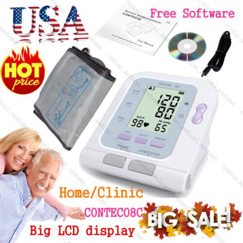 Contec Digital Arm Electric Blood Pressure Monitor+ Adult Cuff,Home NIBP Monitor